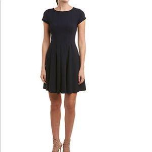 Susana Monaco Pleated Navy A line Dress Size L
